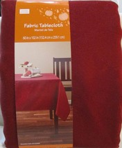 """Fabric Tablecloth 60""""X102"""" Fall Scroll Maroon Dark Cherry Polyester Rect... - €25,40 EUR"""