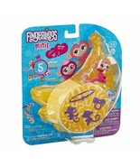 FINGERLINGS MINIS 5 Piece Set Kait Pink Monkey 3 Figurine Charm and Brac... - $5.81