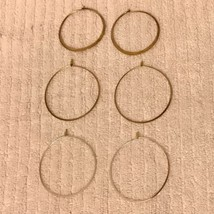 BANANA REPUBLIC Hoop Earrings Lot - Gold & Silver Colored Sterling 925 - $45.82