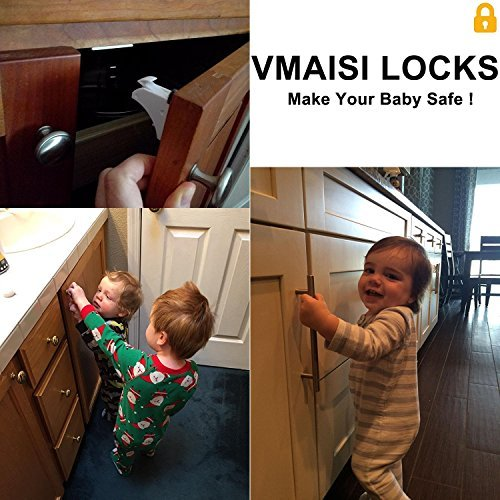 Child Safety Magnetic Cabinet Locks - 16 Pack Children Proof Cupboard Baby Locks