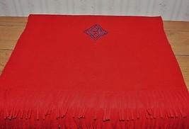 """Ralph Lauren Made in England Dark Red Plush 100% Cashmere Scarf 18""""x70"""" - $56.09"""