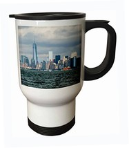 3dRose tm_203191_1 NYC and Freedom Tower Stainless Steel Travel Mug, 14 oz - $16.85