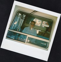 Old Vintage Polaroid Photograph Man Looking Out Huge Boat Window in Cabin - $6.93
