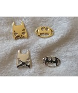 Batman Mask and Logo Stud Earrings Super Heroes pick silver or gold plated - $12.00
