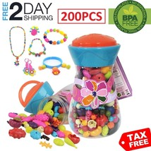 Gift Set For Girl Jewelry Making Kit Pretend Play Toy 5 6 7 8 9 10 11++ ... - $18.51+