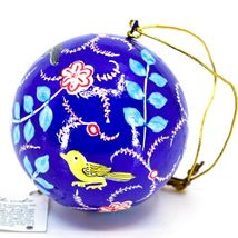 Asha Handicrafts Hand Painted Papier-Mâché Birds Holiday Christmas Ornament  image 3