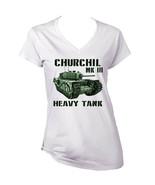 CHURCHILL MK III - NEW WHITE COTTON LADY TSHIRT - $19.59
