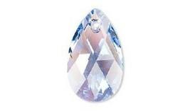 Swarovski Pear crystal pendant style 6106 Lt Sapphire Shimmer 16mm 22mm ... - $3.71+