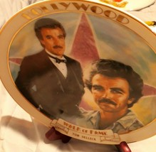 Tom Selleck Commemorative Hollywood Walk of Fame Danbury Mint Plate 1989 - $16.83