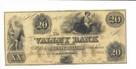 1856 $20 Maryland Hagerstown Valley Bank Maids Low Serial #476 Crisp Uncirc - $81.94