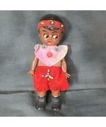 "Vintage Celluloid 6"" Doll, Sleep Eyes, Unknown Mark - $14.89"