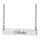 Custom Any Name Bar Necklace Christmas Mother Day Gift for Archie - $9.99+