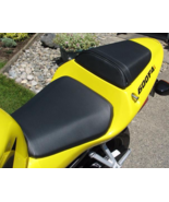 01 02 03 Honda CBR 600 F4i Solid Line Vinyl Motorcycle Seat Cover CF Black - $50.00