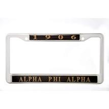 Alpha Phi Alpha Fraternity New Metal License Plate Frame - $19.55