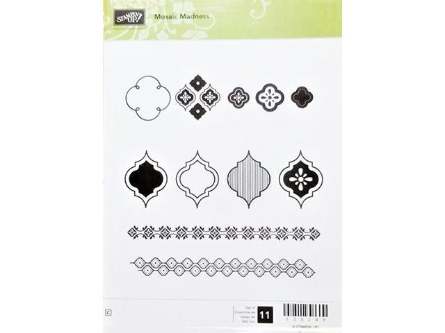 Primary image for Stampin' Up! Mosaic Madness Rubber Cling Stamp Set #130249