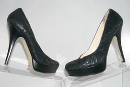 Enzo Angiolini Smiles sparkle black evening pumps heel platform womens s... - $9.31