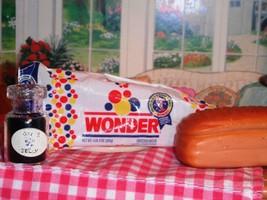 Barbie Fun Fixin Play Food Loaf of Wonder Bread & Jam Jar fits Loving Fa... - $14.84