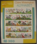 Claire Winteringham Alphabet 300-Piece Jigsaw Puzzle New Sealed 20x20  - $24.95
