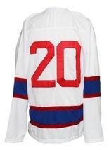 Custom Name # Team Norway Norge New Men Sewn Hockey Jersey White Any Size image 2