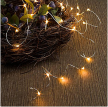 Winter Lane Indoor/Outdoor Multifunction 50' Micro LED Light String, Purple - $34.64