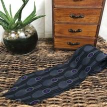 """Vintage Zylos by George Machado Designer Italian Silk Neck Tie 58"""" x 4"""" - $11.88"""