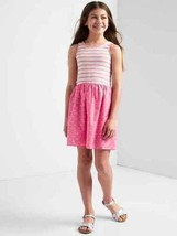 Gap Kids Girl Striped Purple Print Skirt Cotton Scoop Neck Ribbed Tank D... - $19.79
