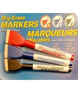 Dry-Erase Markers with Built-In Eraser. 3 per pack - $5.87