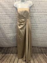 Davids Bridal Bridesmaid/formal/prom Nude Colored Dress W/ Embellishment... - $24.00