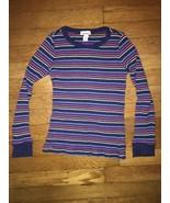 ! old navy rainbow waffle knit long sleeve tee top shirt size medium 8 g... - $4.95