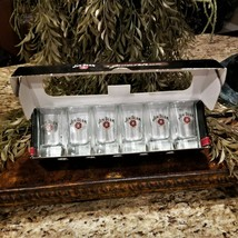 New JIM BEAM Heavy Square Shot Glass Set in Collectible Box  - $26.95