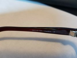 OLIVER PEOPLES Candice SI Sunglasses Glossy Transparent Dark Burgundy Red ..NEW image 6
