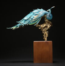 Peacock perches on Southeast branch, good luck comes. - $1,680.00