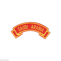 MARINE CORPS SAUDI ARABIA MILITARY EMBROIDERED USMC RED SHOULDER ROCKER ... - $15.33