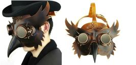 Reenactment Plague Doctor Steampunk Bird Leather Mask Halloween Gothic Cosplay image 7