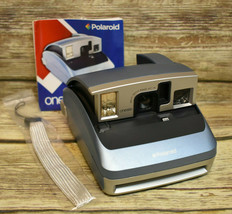 Polaroid One600 Blue Instant Camera w. Manual and Wrist Strap - $13.86