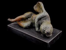 Eros sleeping bronze small statue - $199.00