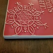 Christmas Trivet, Hallmark decorative tile, red, Merry Moments Holidays Bright image 2