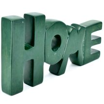 Vaneal Group Hand Carved Soapstone Green HOME Standing Word Paperweight image 5