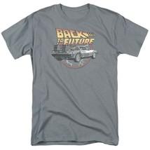 Back To Future Logo T-shirt McFly Delorean 1980s movie retro cotton tee UNI991 image 2