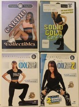 4 Christi Taylor workout DVD lot totally cool step 1 2 cardio collectibl... - $15.57