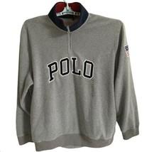 POLO Ralph Lauren Gray 1/2 Zip Mock Neck Fleece Pullover Sweater Jacket XXL 2XL - $146.52