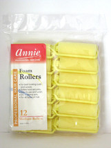 "ANNIE 7/8"" MEDIUM FOAM HAIR ROLLERS - 12 PCS. (1052) - $5.99"