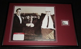 Coach Bill Peterson Signed Framed 12x18 Photo Display JSA Florida State FSU - $140.24