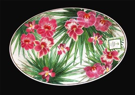 "Outdoor Collection Tropical Hibiscus Orchid LRG Melamine 20"" Oval Platte... - $42.99"
