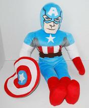 """Marvel Avengers Captain America Plush Doll Shield Super Hero Toy 18"""" Jay... - $24.70"""