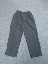 DANA BUCHMAN  Black Pinstriped Wool High Waist Bootcut Dress Pants 10 8920A - $24.70