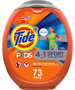 Tide Pods Febreze Sport Odor Defense, 73 Ct Laundry Detergent Pacs - $69.00