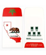 100 CA California State Bear Glossy Shatter Lab... - $29.39