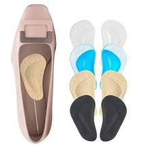 Foot Arch Support Inserts for Men & Women, Shoe Insoles for Flat Feet, Reusable