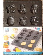 Sweet Creations 12 Cavity Easter Spring Cookie Pan Nonstick Bunny Duck E... - $19.75